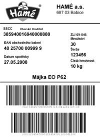 Paletové A Kartonové Etikety Dle GS1 128